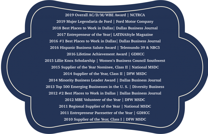 Blue awards Banner